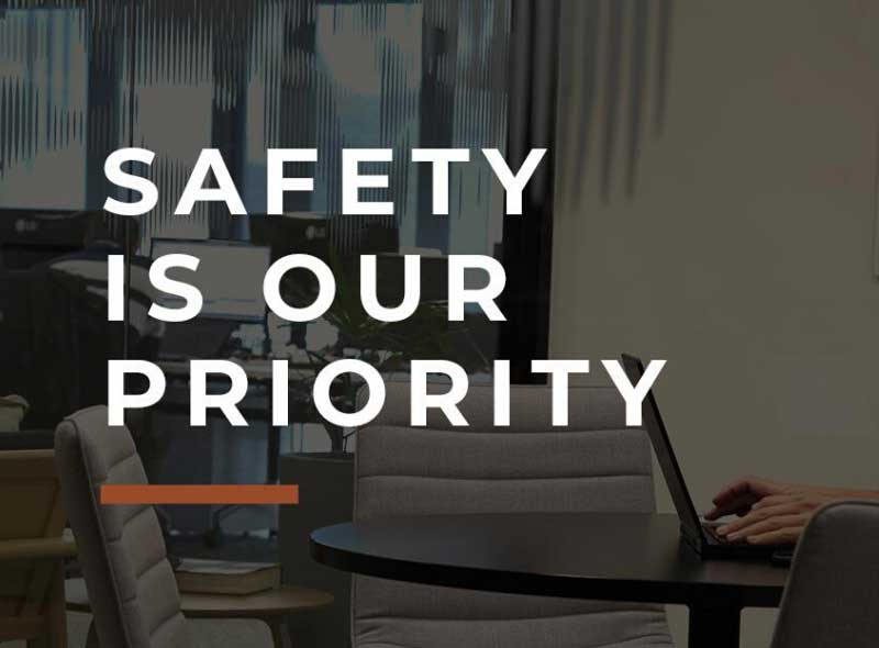 Safety is our Priority, Flexispace, Coworking Space Sydney
